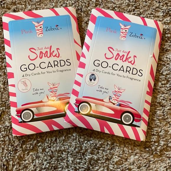 Two 4-packs of Pink Zebra Soaks